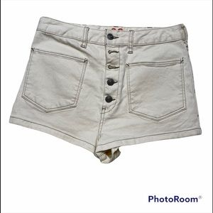 Free People Ecru Button Fly Shorts Size 30